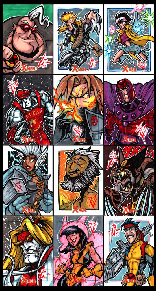 X-Men Archives Misc. by skulljammer