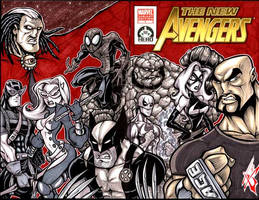 New Avengers 100 project cover by skulljammer