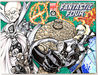 HERO Initiative Fantastic Four 100 project by skulljammer