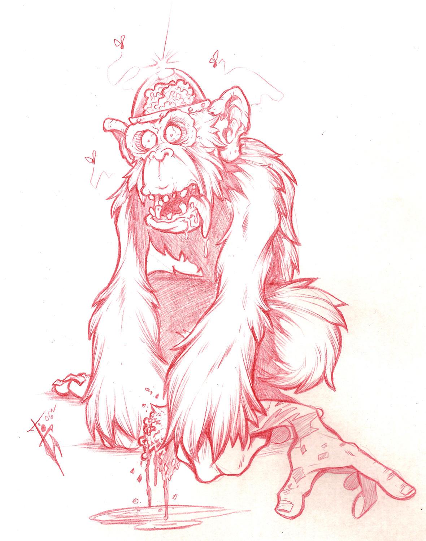 zombie brain monkey by skulljammer on deviantart