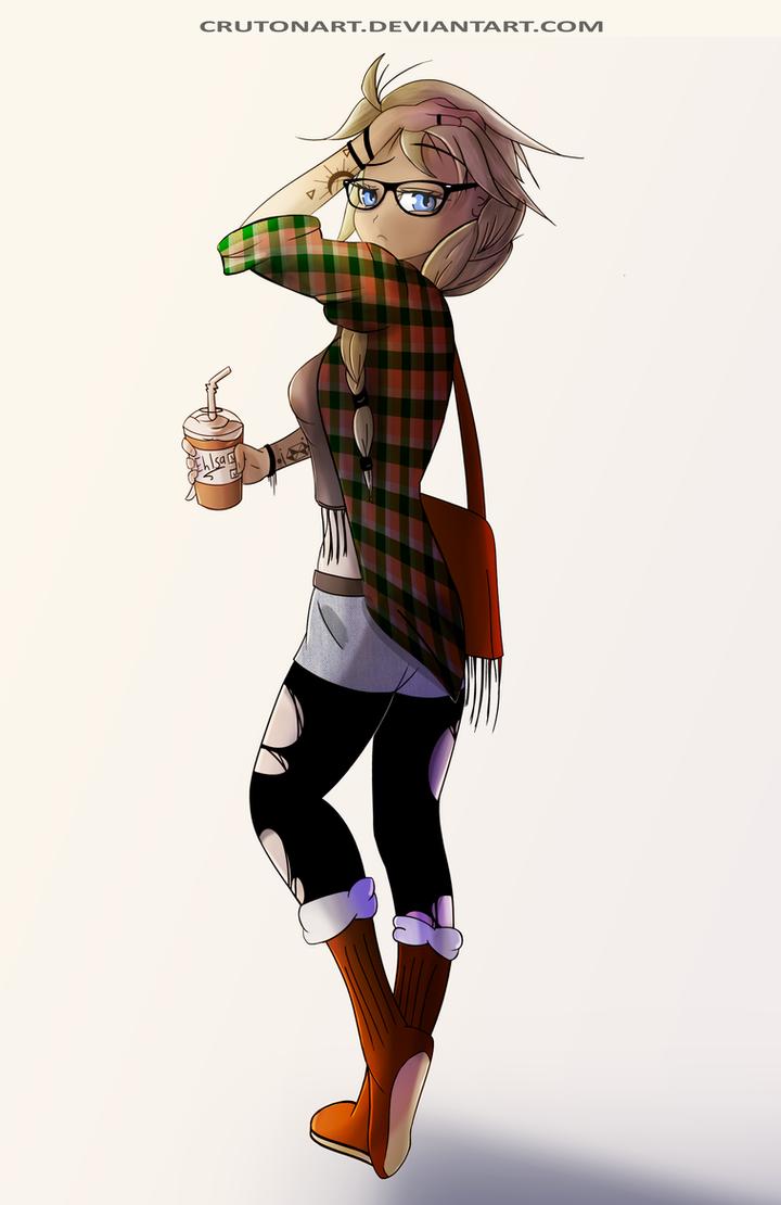 Elsa Spice Latte by CrutonArt