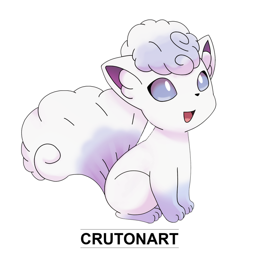 how to draw alolan vulpix