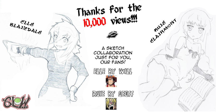 10,000 View Kiriban! by SMALL-TOWN-HEROES