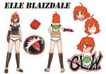Elle character sheet colored by BLACK-HAT-STUDIO