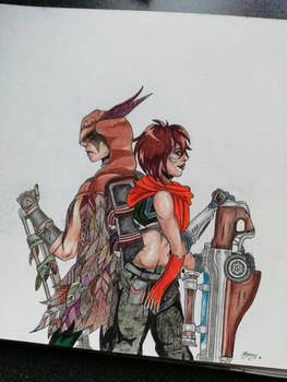 Kinessa and Strix from Paladins