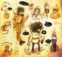 Razia's Shadow sketchdump by TotenVeloren
