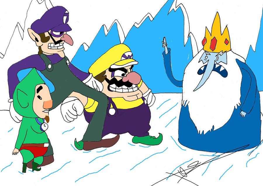 Mario Party 7 - 8 Player Ice Battle - Yoshi Wario Mario ...  Ice Waluigi