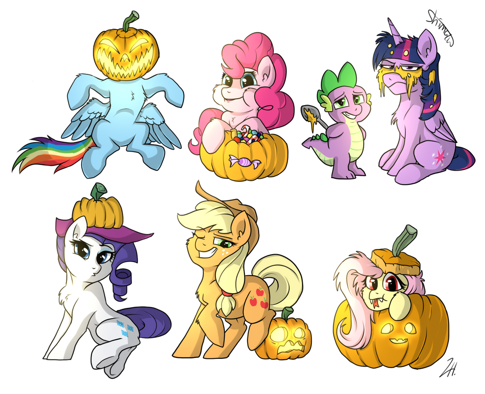 Halloween Pumpkins by Shimazun