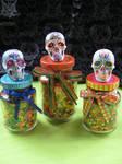 Sugar Skull candy bottles