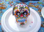 My first REAL sugar skull!