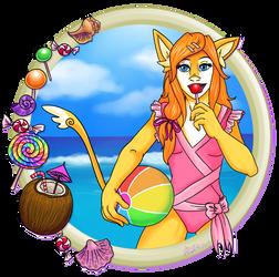 OCX 3 - Rina at the Beach by Myrcury-Art