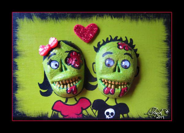 Zombie Love by Myrcury-Art