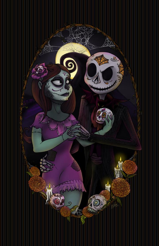 Nightmare Before Dia de los Muertos by Myrcury-Art
