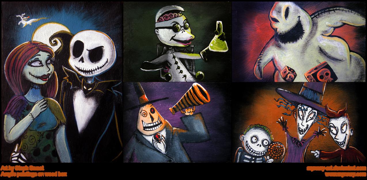 Halloween Town Reunion by Myrcury-Art