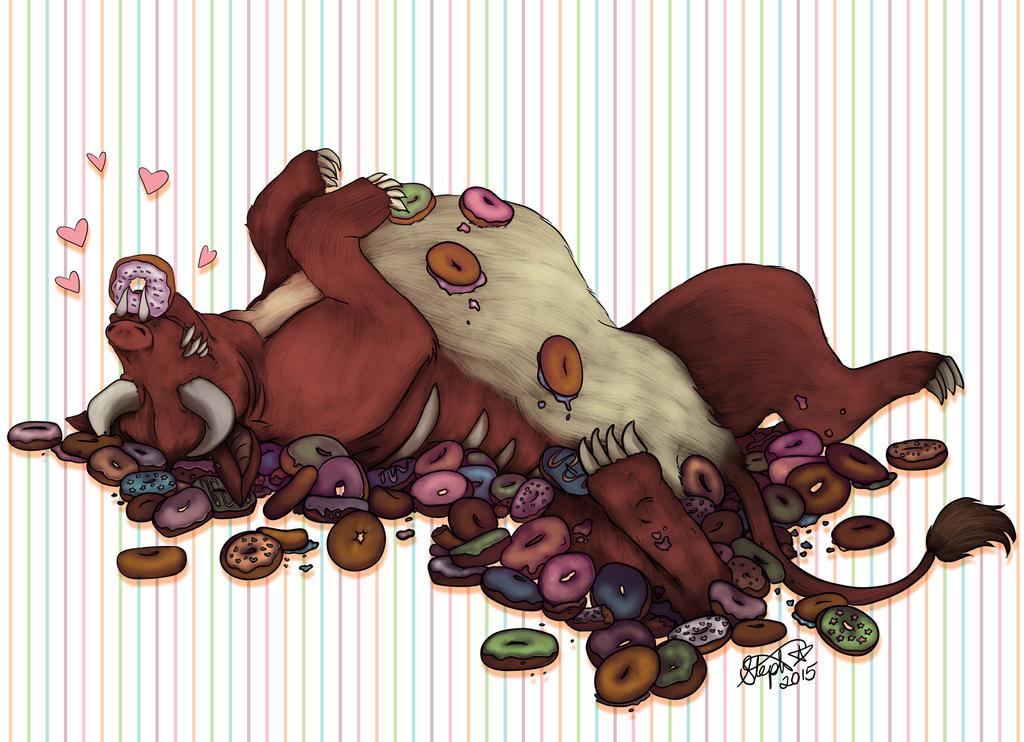 Barnes loves donuts! by Myrcury-Art