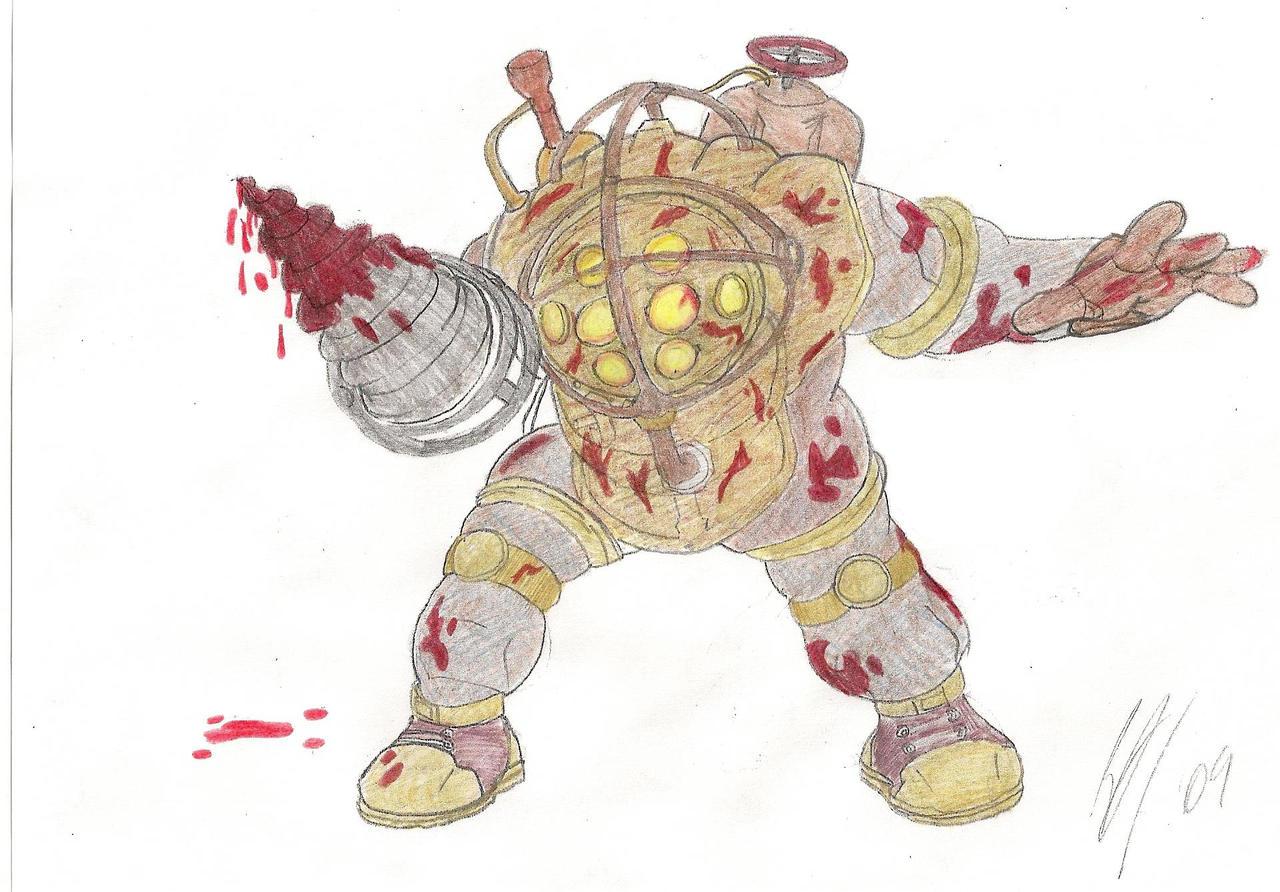 Bioshock Big Daddy Concept by Airickz on DeviantArt