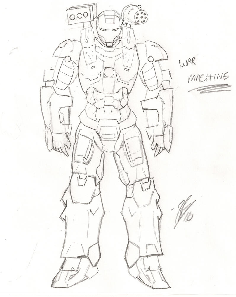 Iron Man 2 War Machine By Sfritts10