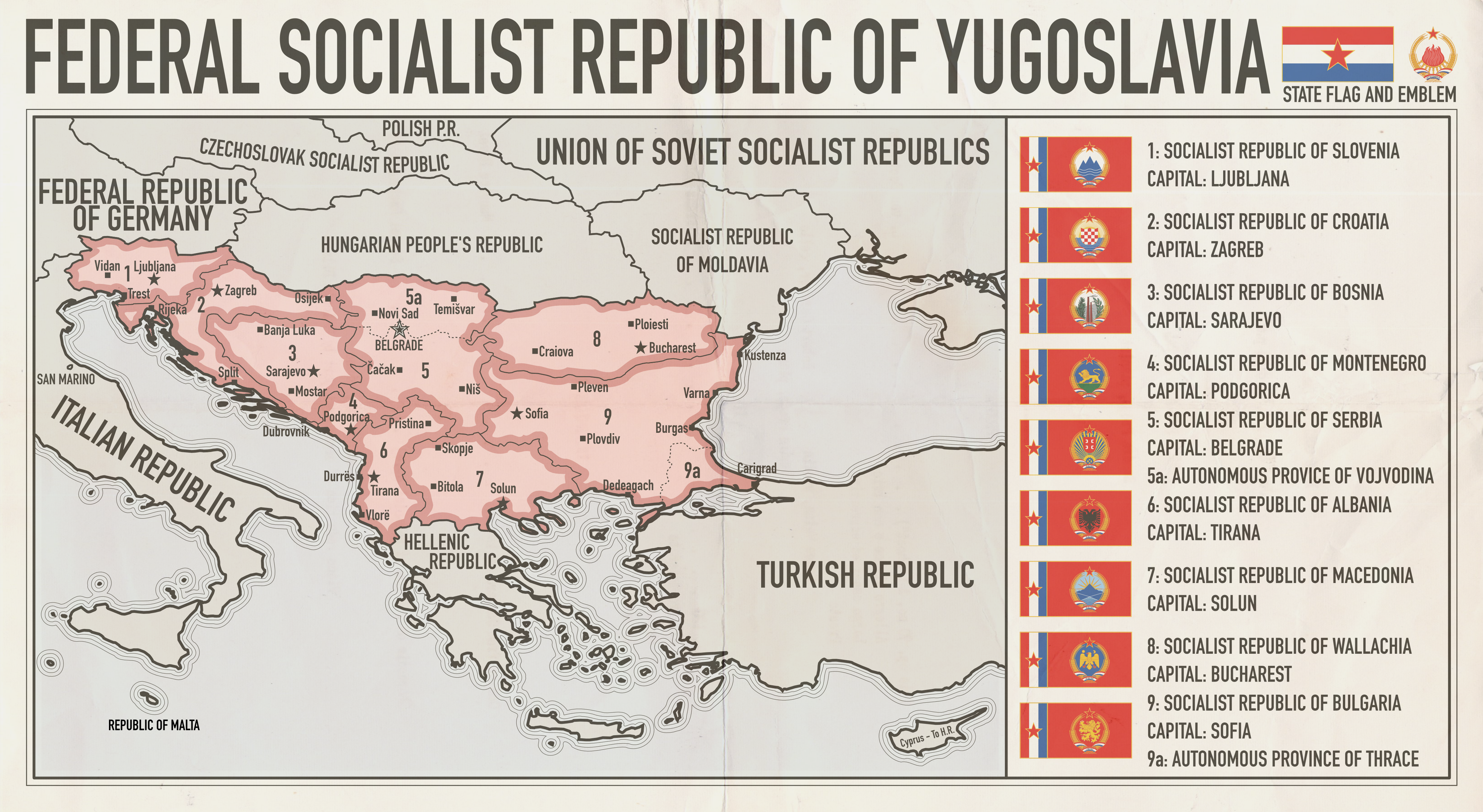 ... From Celovec to Carigrad - A Greater Yugoslavia by HouseOfHesse