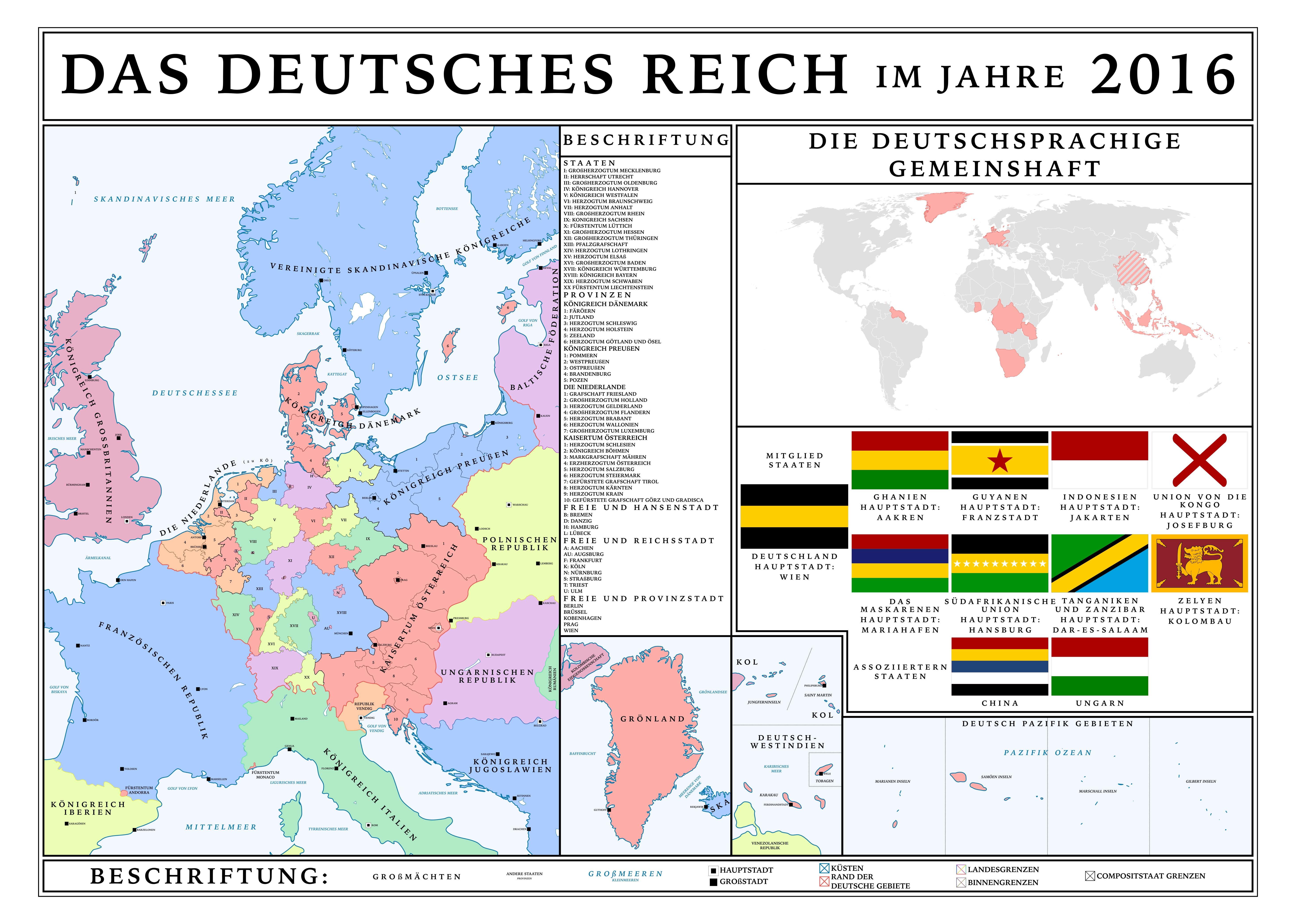 AustrianUnited Greater Germany By HouseOfHesse On DeviantArt - Germany map 2016