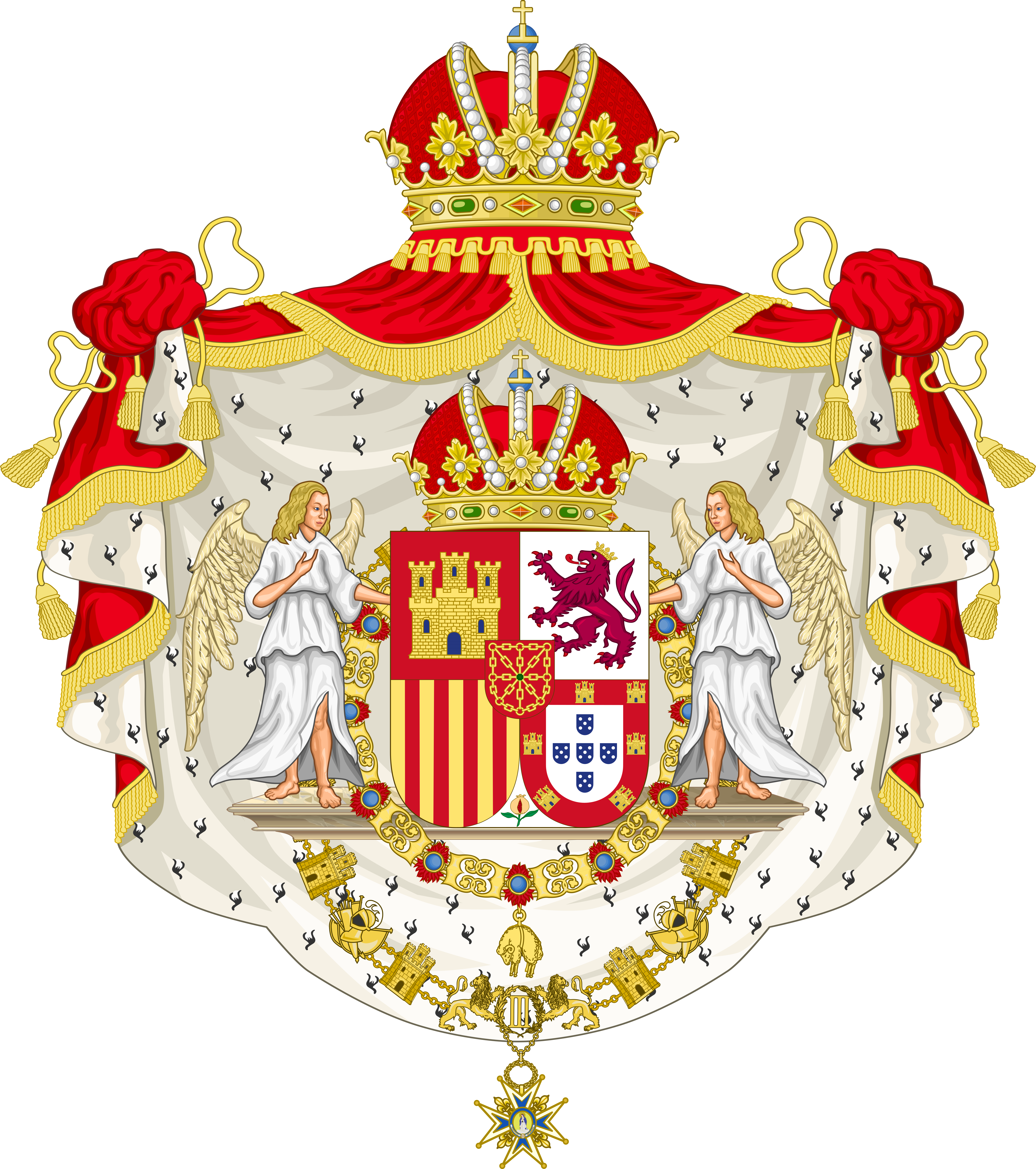 Coat of arms of the united kingdom of iberia by houseofhesse on coat of arms of the united kingdom of iberia by houseofhesse buycottarizona