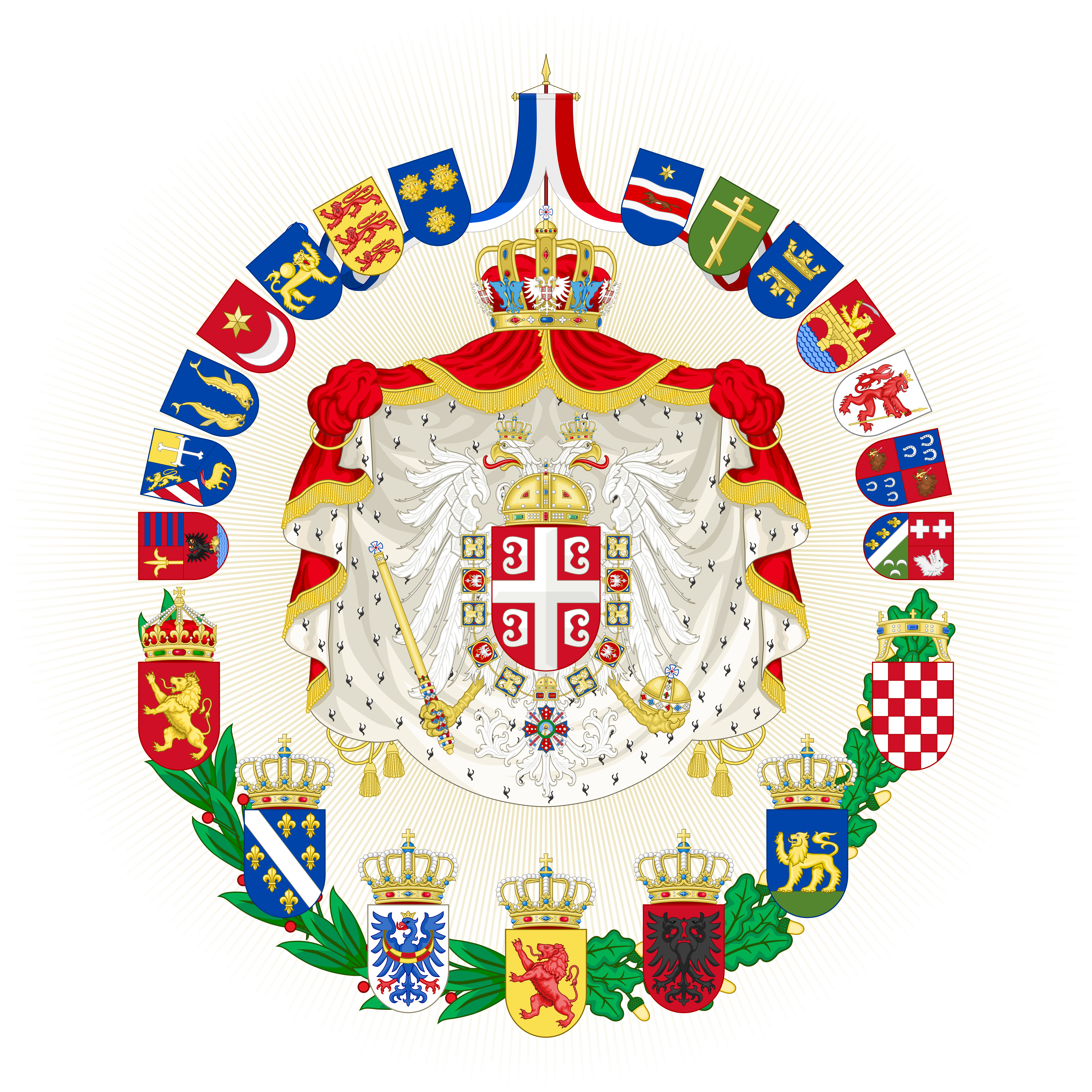 Greater Coat of Arms of the Empire of Yugoslavia by HouseOfHesse ...