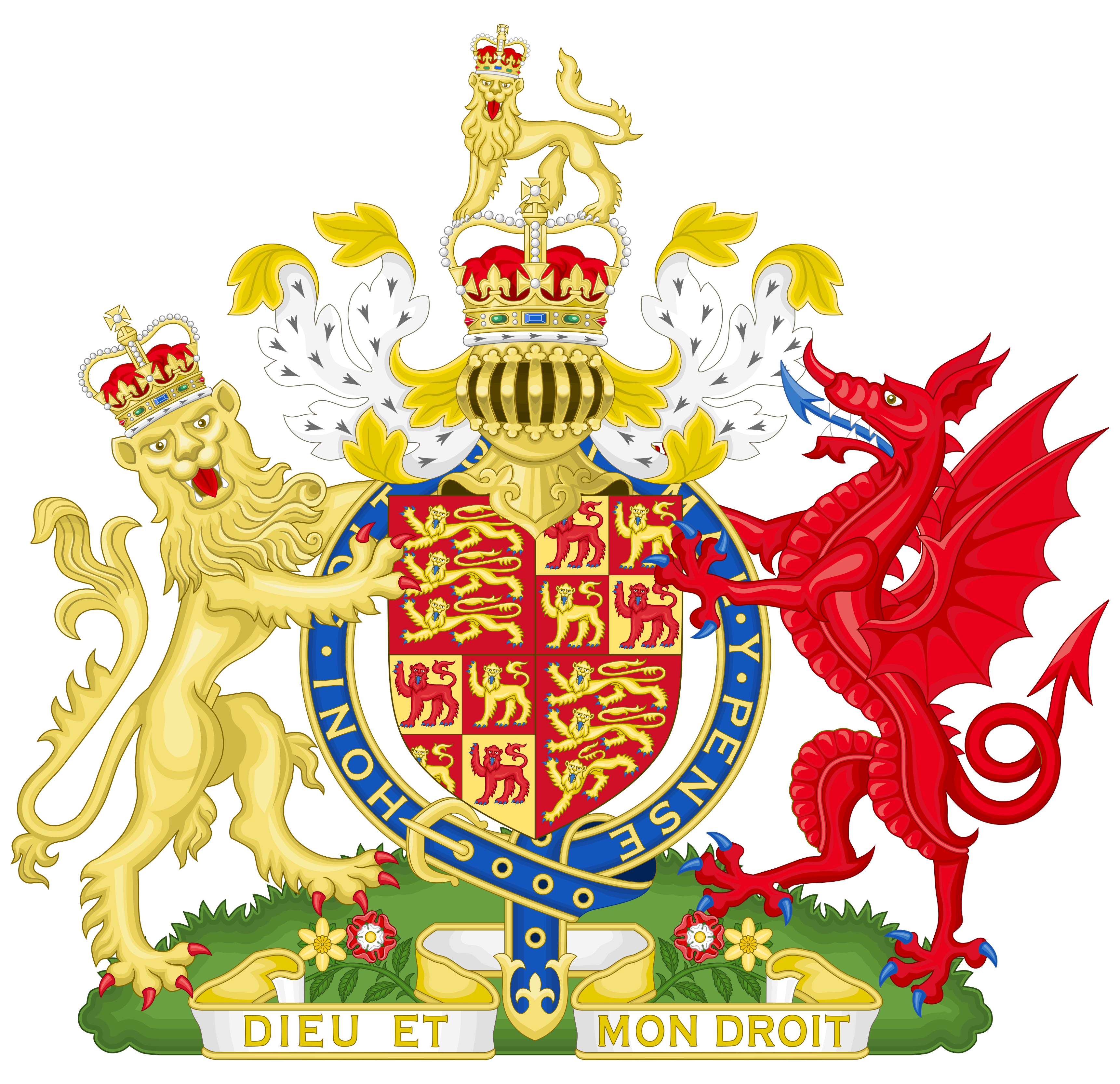 Coat of Arms of the Kingdom of England and Wales by HouseOfHesse ...