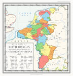 The Kingdom of Lotharingia in 1815