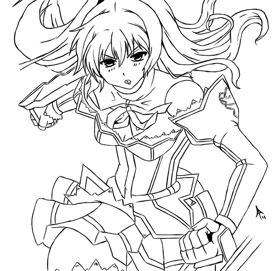 Cassie Lockheart Lineart By Megasonic002