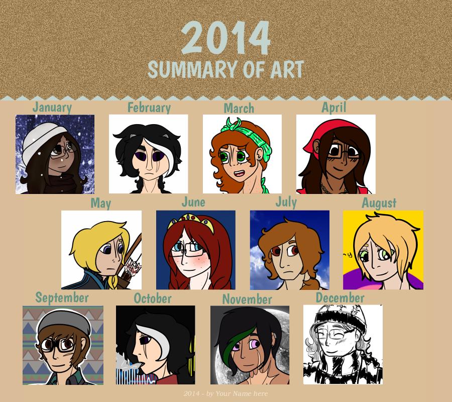 2014 Summary Of Art Meme by WiltingDaisy