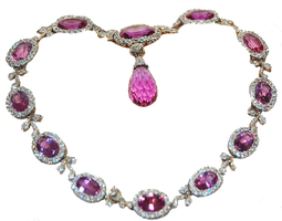 Pink Necklace A by MLeighS