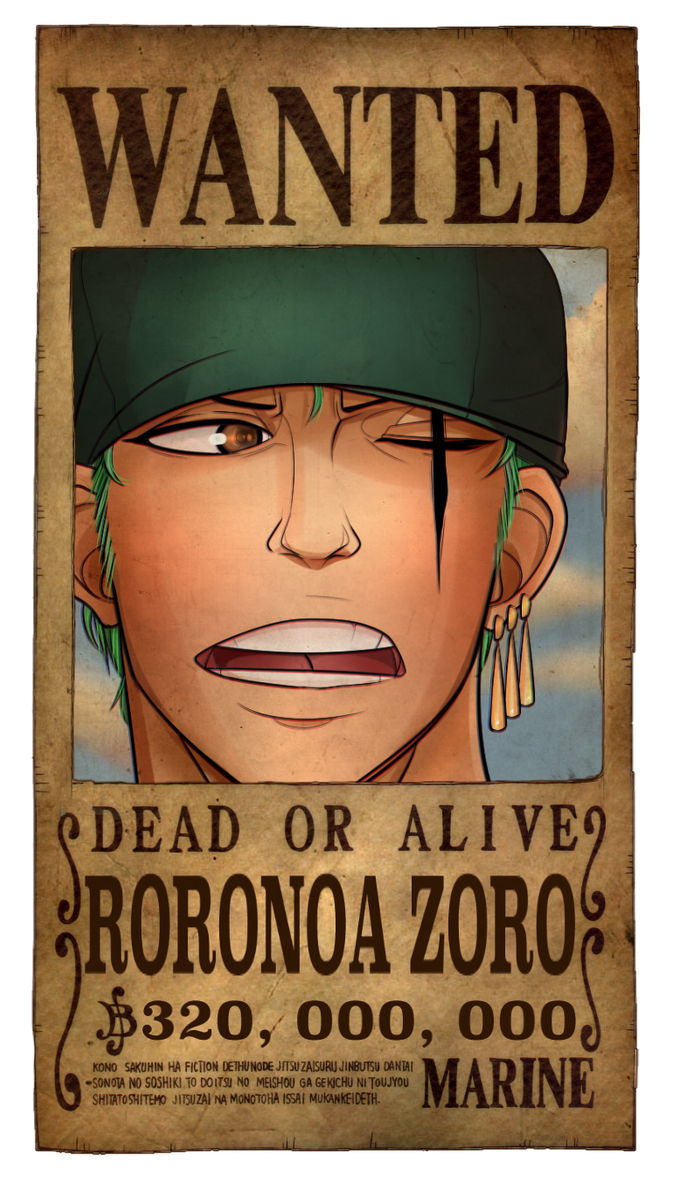 Zoro Wanted Poster by PlanarShift on DeviantArt