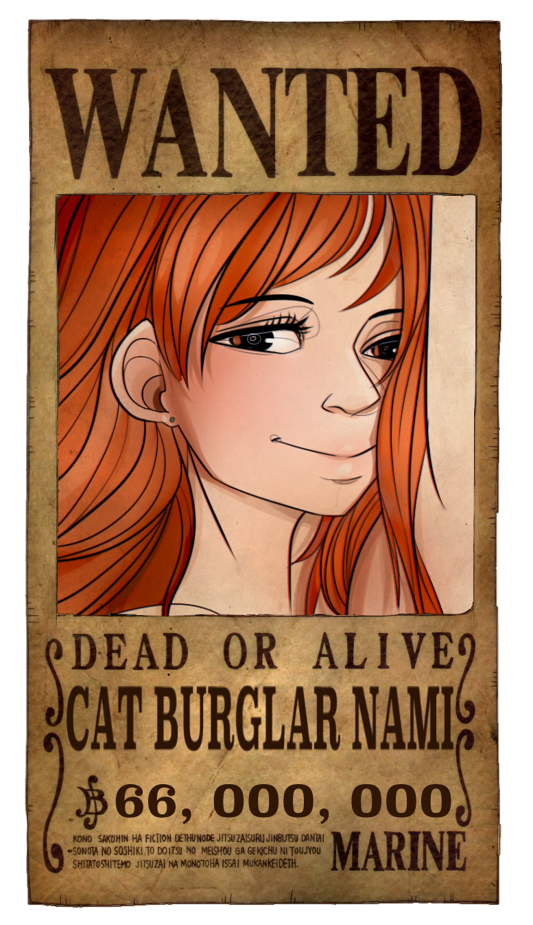 Nami Wanted Poster by PlanarShift on DeviantArt