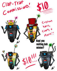 Clap-Trap commissions! by MaddieLea