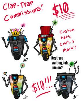 Clap-Trap commissions!