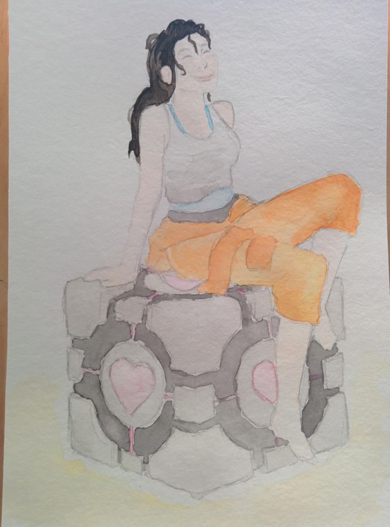 Chell watercolor by adrian22495