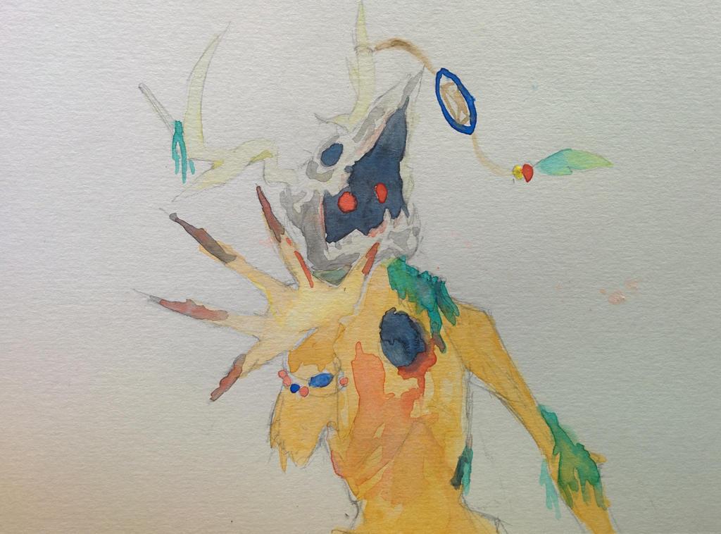 Wendigo Watercolor by adrian22495