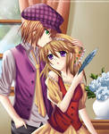 HM: Cam, Lilian and The Blue Feather -Mouse Drawn-