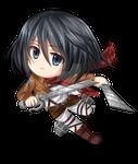 Chibi Mikasa Ackerman