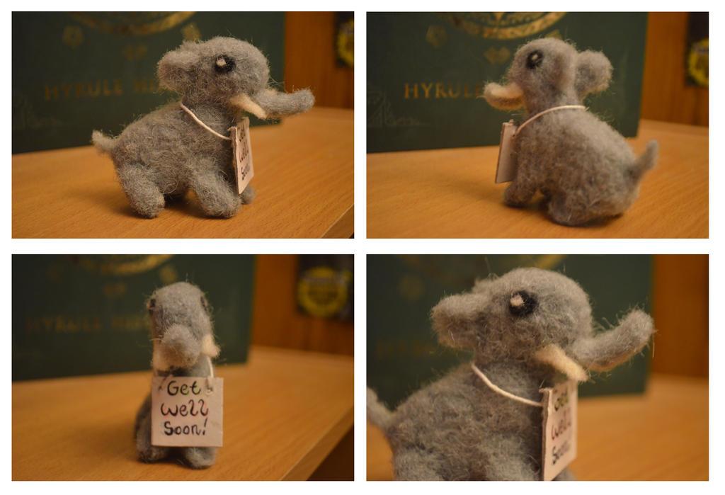 Miniature Elephant Plush by Awaiting-Paradise