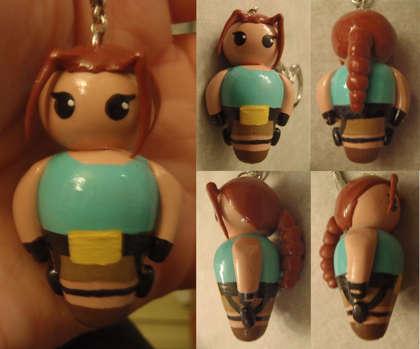 Tomb Raider Lara Croft Keyring by Sorenli
