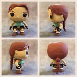 Custom DIY Tomb Raider Lara Croft Funko Pop Figure