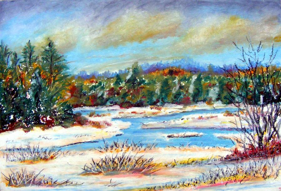 Winter scene by devonhants