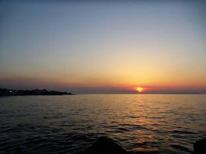 Sunset in Crete.