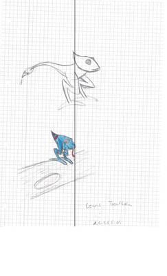 chameleon with brush pkmn