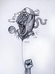 fullmoon baboon by Yeraswork