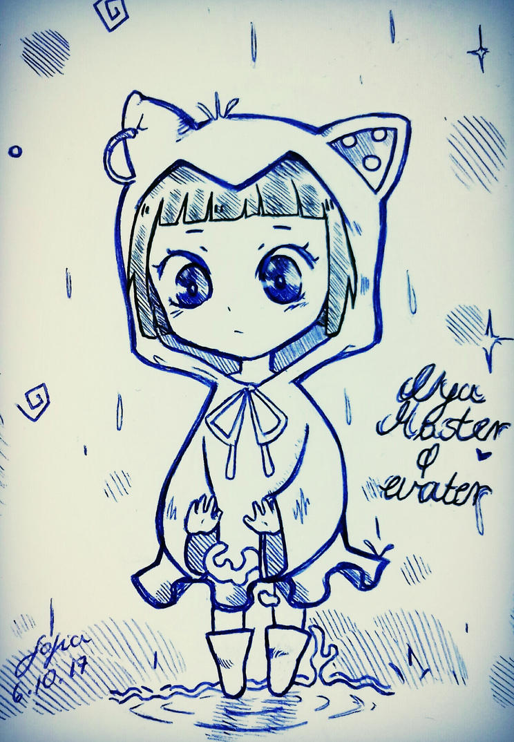 Nya master of water || chibi by Sophieartpl