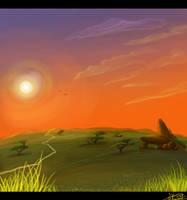 Prideland sunset by KingSimba