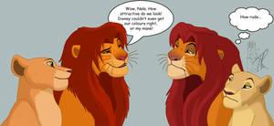 Simba and Nala vs Simba and Nala