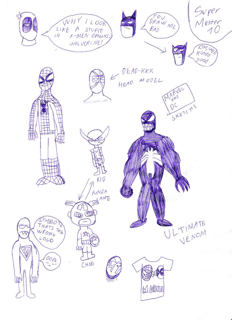 My Real Life Drawings:Marvel and DC by SuperMaster10