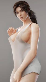 Lara Croft - A bit wet